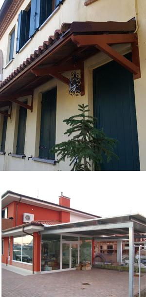 pensiline e tettoie in ferro